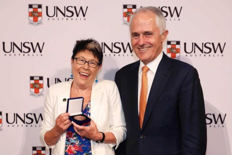 Kim Ryan and Prime Minister Malcolm Turnbull
